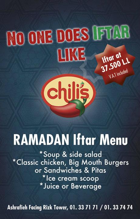 Permalink to Chilis Restaurant Menu