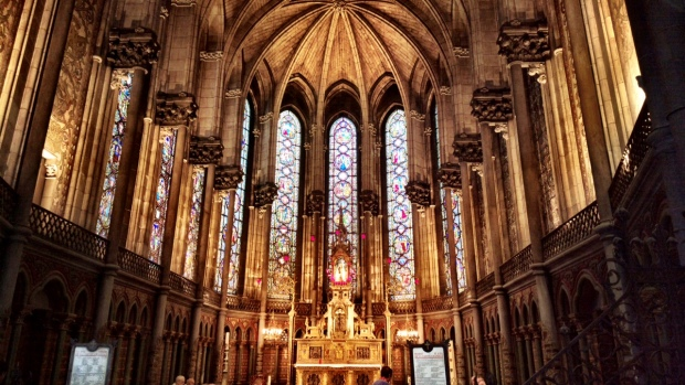 Inside one of Lille's cathedrals