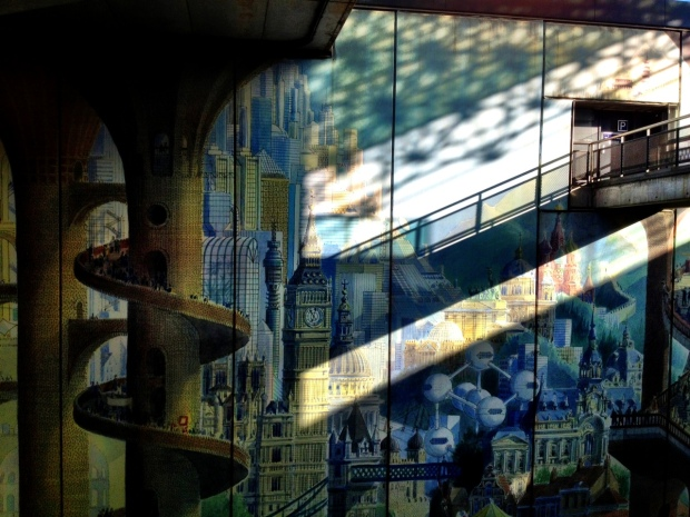 A mural found in one of Lille's subway and train stations: Lille Europe