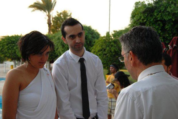 Hassan Kassem and Joulia Bou Karroum. They got married in Cyprus.