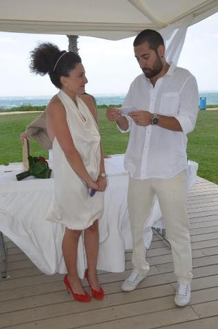Lara Salman and Jad Tamer. They got married in Cyprus.