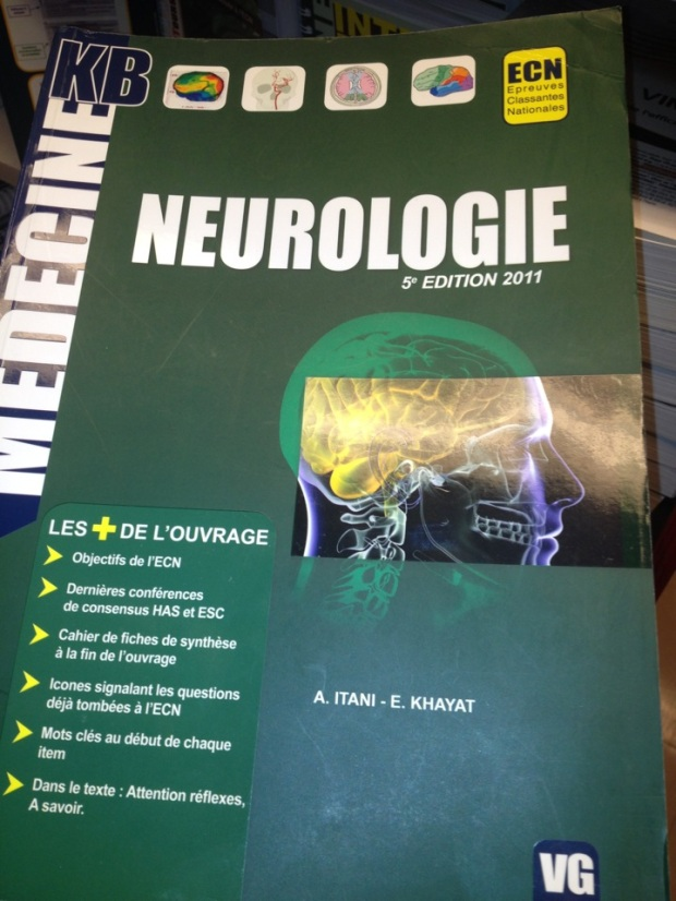 Neurology book France Lebanese author A Itani E Khayat