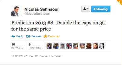 Nicolas Sehnaoui 3G upgrade