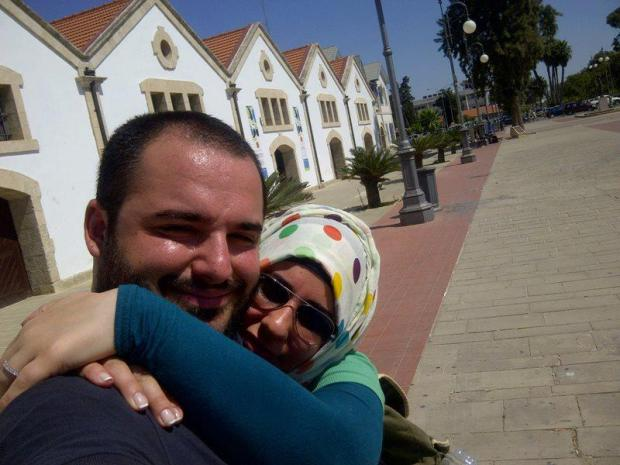 Salim el lawze and his wife. They got married in Cyprus
