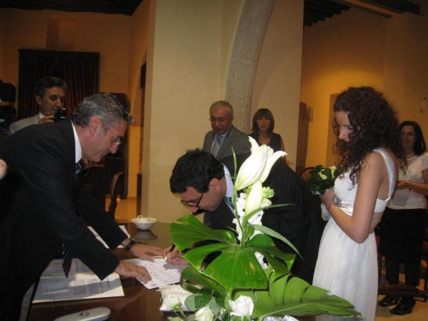 Sophia Maamari and Hassan Choubassi. They got married in Cyprus