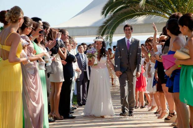 Tamara and Bassam Choueiri. They got married in Cyprus.