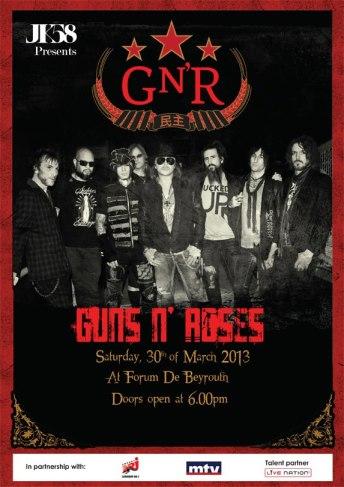 Guns N' Roses concert Lebanon Beirut