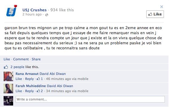USJ Crushes Facebook