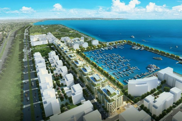 Future waterfront city beirut