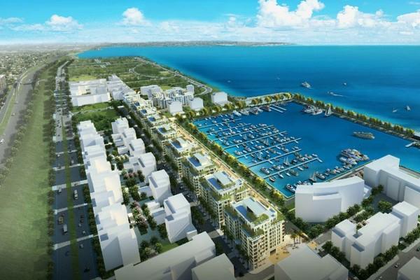Future waterfront city beirut