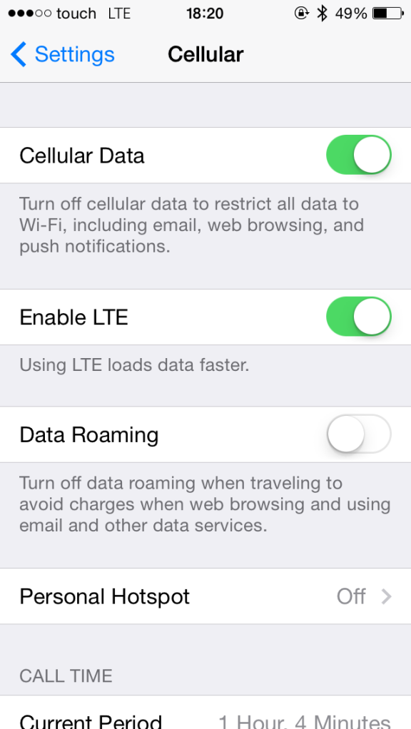 iPhone 5S LTE Touch MTC Lebanon