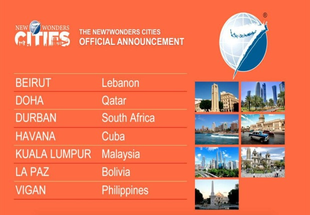 New 7 wonders cities