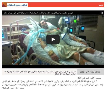 Guillan Barre Virus Lebanon - 1