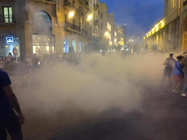 Tear Gas Beirut August 22 Protest YouStink