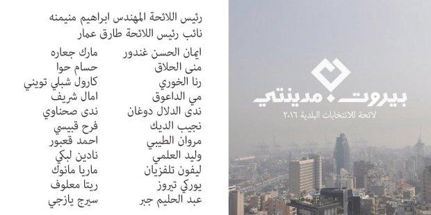 Beirut Madinati Candidates